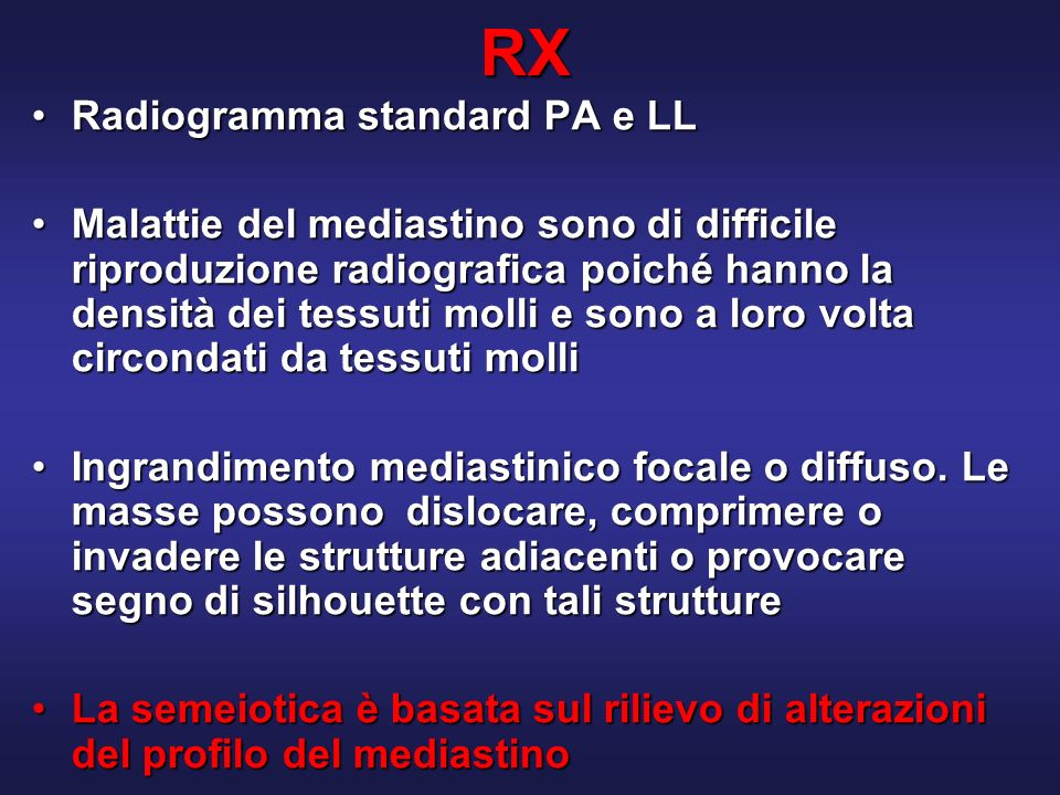 RX Radiogramma standard PA e LL