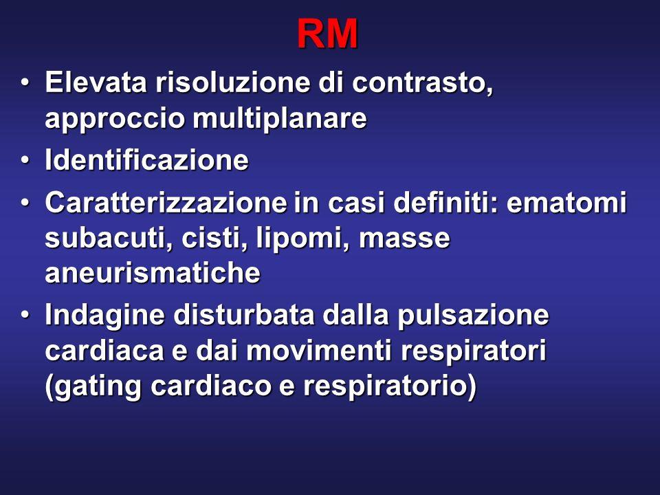 RM Elevata risoluzione di contrasto, approccio multiplanare