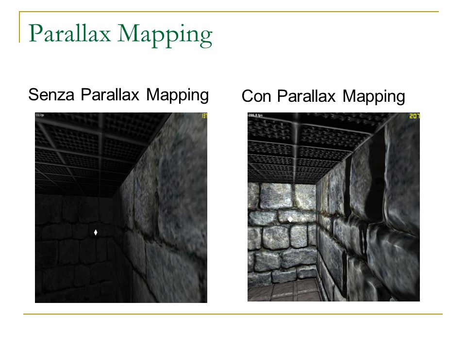 Parallax Mapping Senza Parallax Mapping Con Parallax Mapping