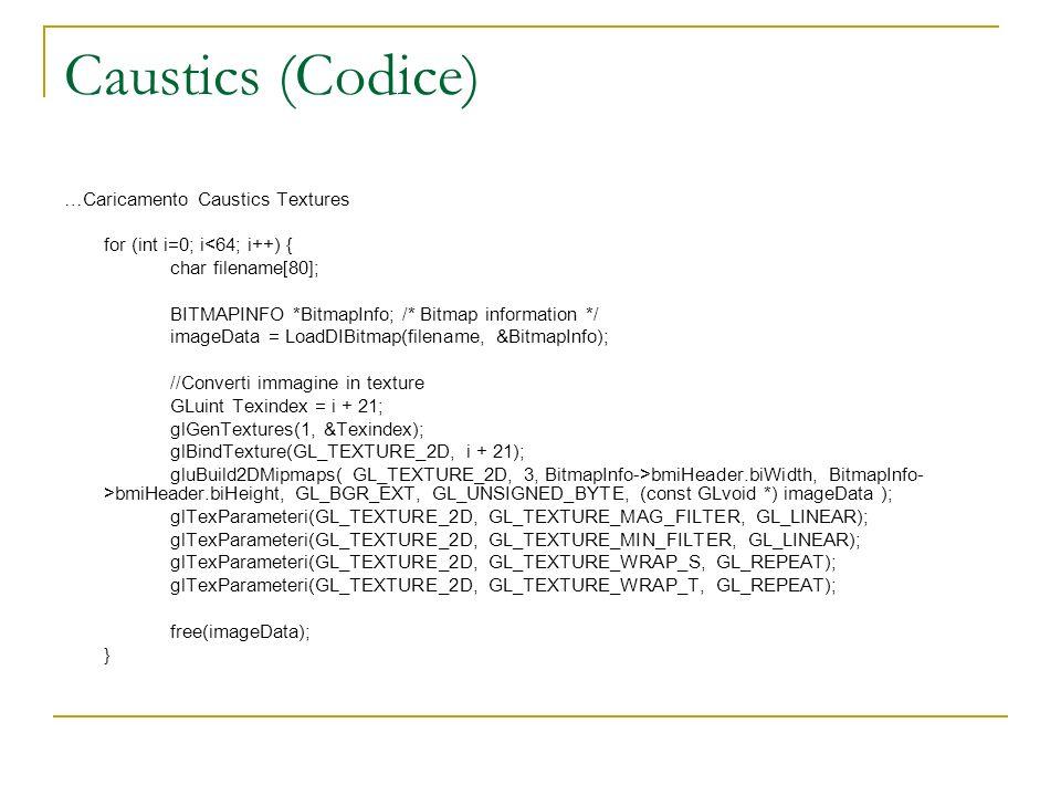 Caustics (Codice) …Caricamento Caustics Textures