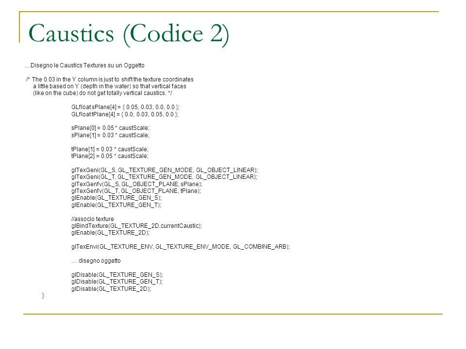 Caustics (Codice 2) …Disegno le Caustics Textures su un Oggetto