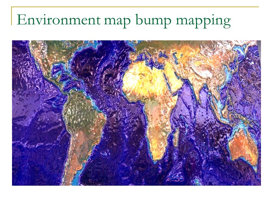 Environment map bump mapping