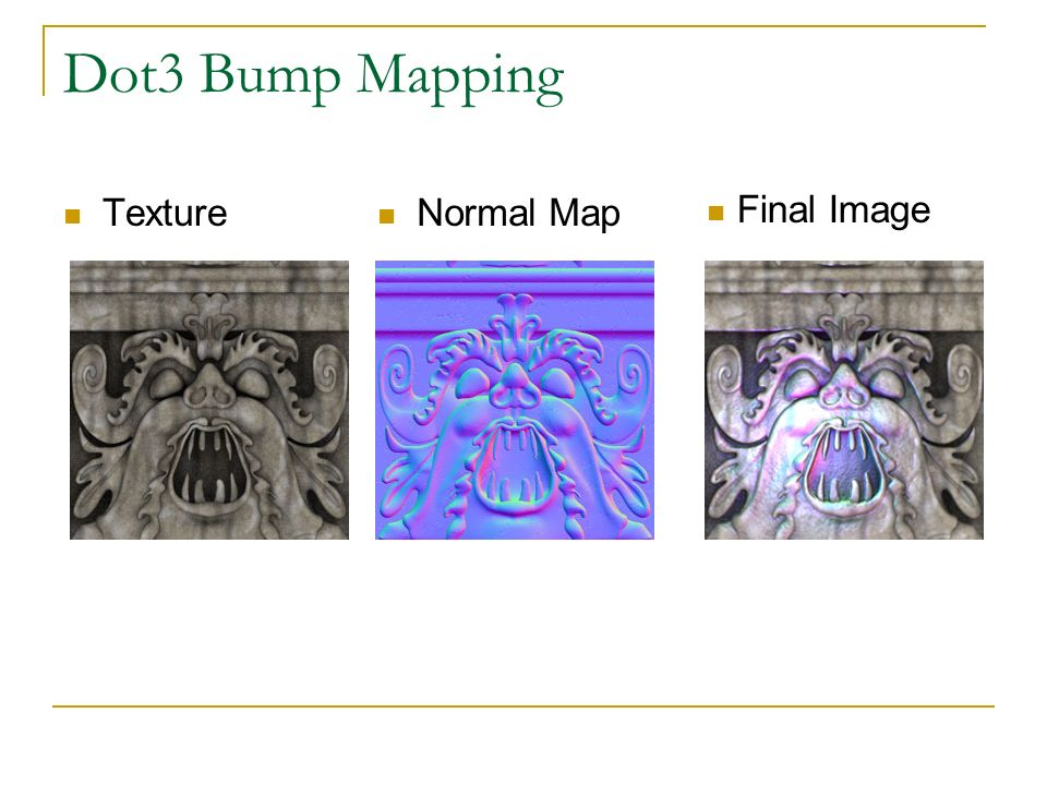 Dot3 Bump Mapping Texture Normal Map Final Image