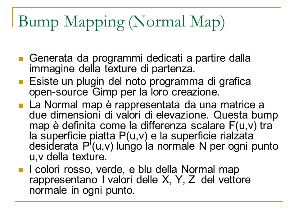 Bump Mapping (Normal Map)
