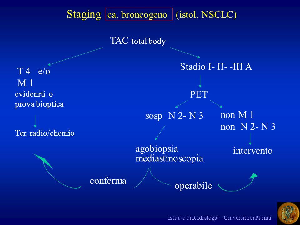 Staging ca. broncogeno (istol. NSCLC)