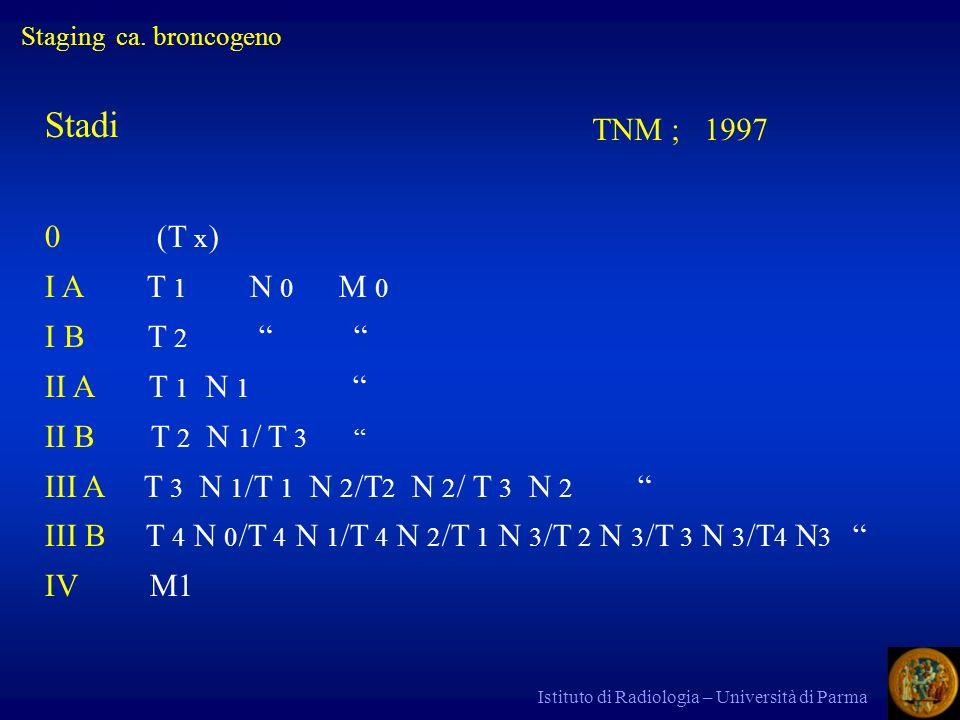 Stadi TNM ; 1997 0 (T x) I A T 1 N 0 M 0 I B T 2 II A T 1 N 1