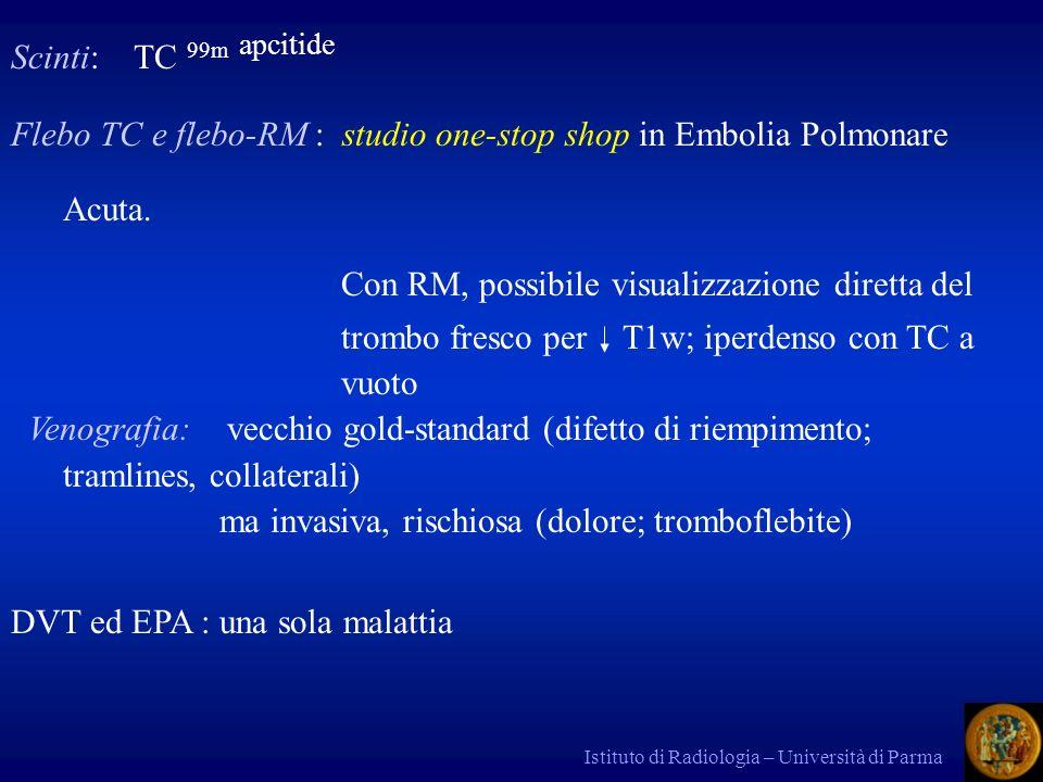 Flebo TC e flebo-RM : studio one-stop shop in Embolia Polmonare Acuta.