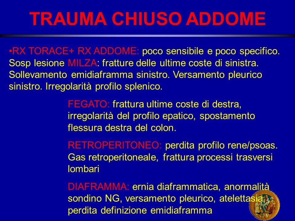 TRAUMA CHIUSO ADDOME