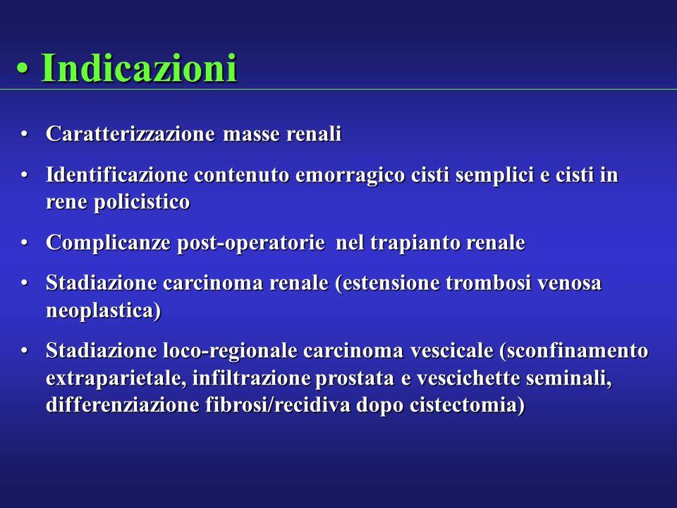 Indicazioni Caratterizzazione masse renali