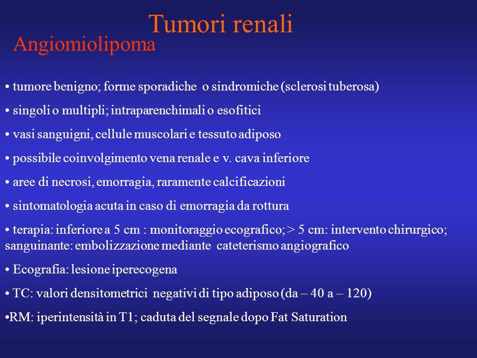 Tumori renali Angiomiolipoma