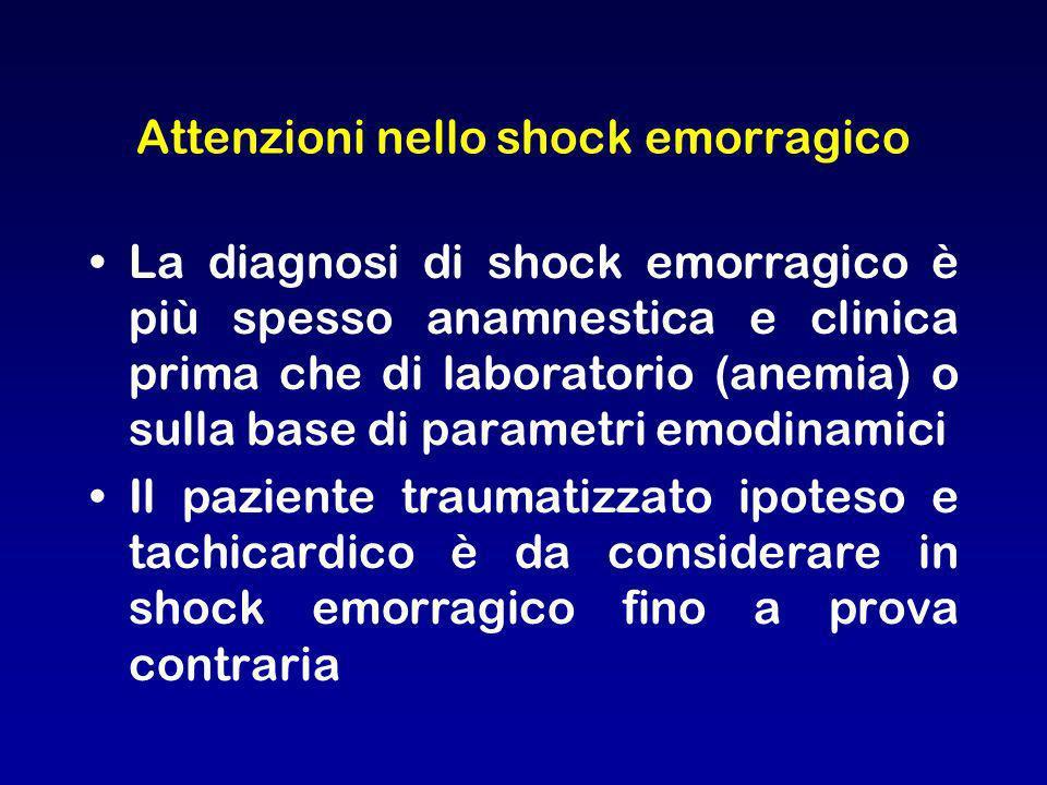 Attenzioni nello shock emorragico