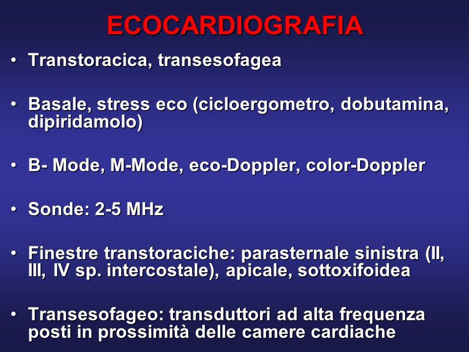 ECOCARDIOGRAFIA Transtoracica, transesofagea