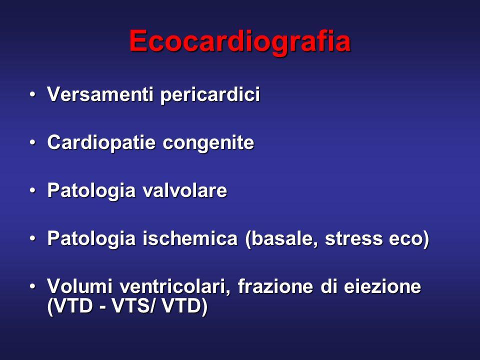 Ecocardiografia Versamenti pericardici Cardiopatie congenite