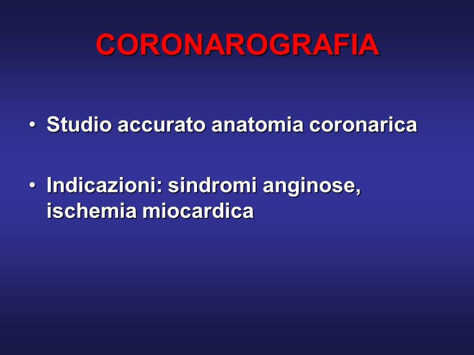 CORONAROGRAFIA Studio accurato anatomia coronarica