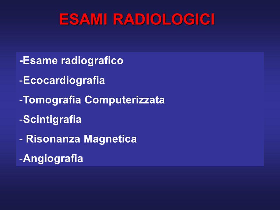 ESAMI RADIOLOGICI -Esame radiografico Ecocardiografia