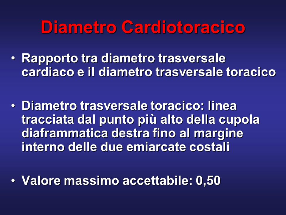 Diametro Cardiotoracico