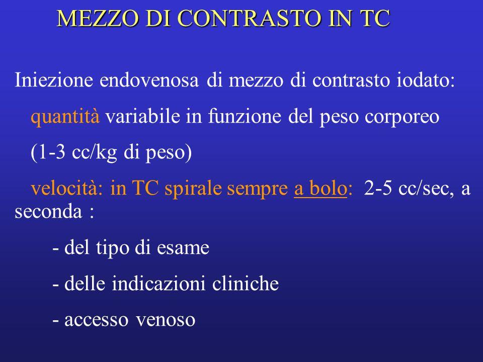 MEZZO DI CONTRASTO IN TC