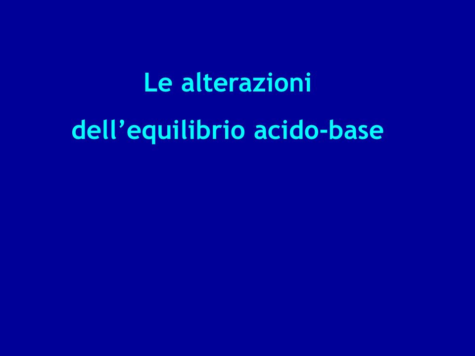 dell'equilibrio acido-base