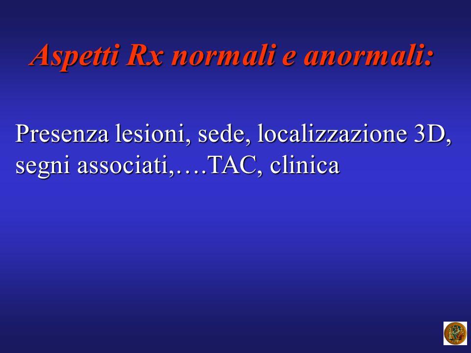 Aspetti Rx normali e anormali: