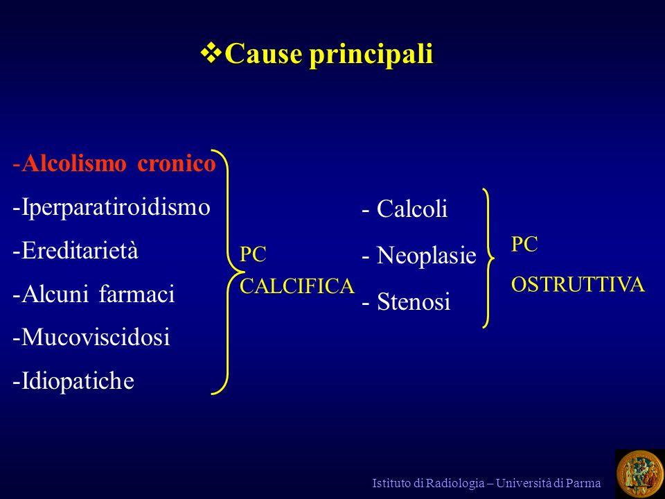 Cause principali Alcolismo cronico Iperparatiroidismo Ereditarietà