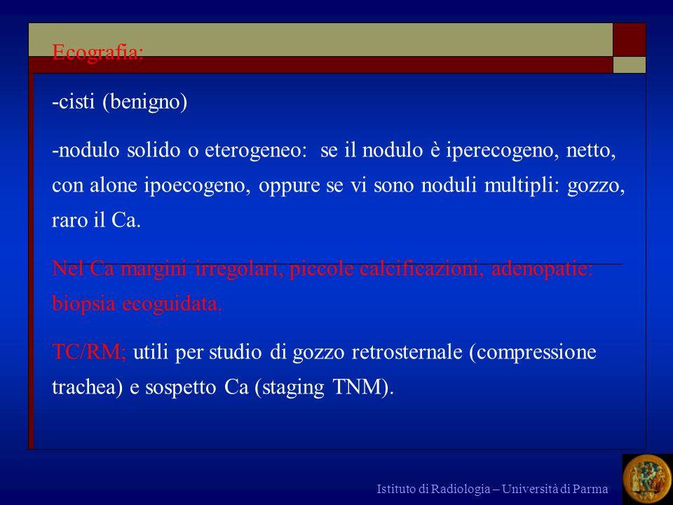 Ecografia: -cisti (benigno)