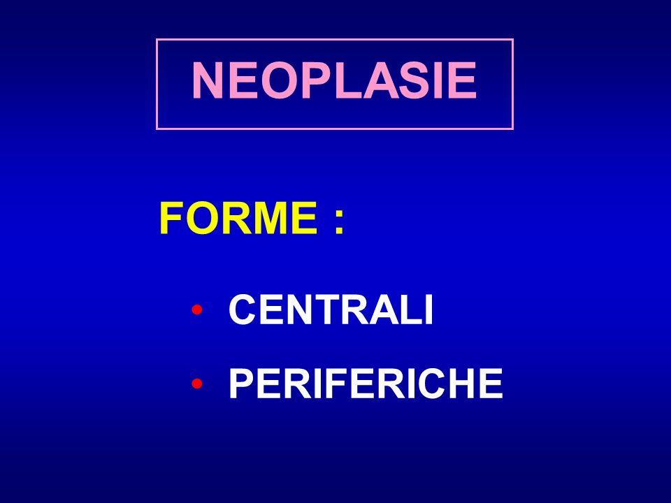 NEOPLASIE FORME : CENTRALI PERIFERICHE