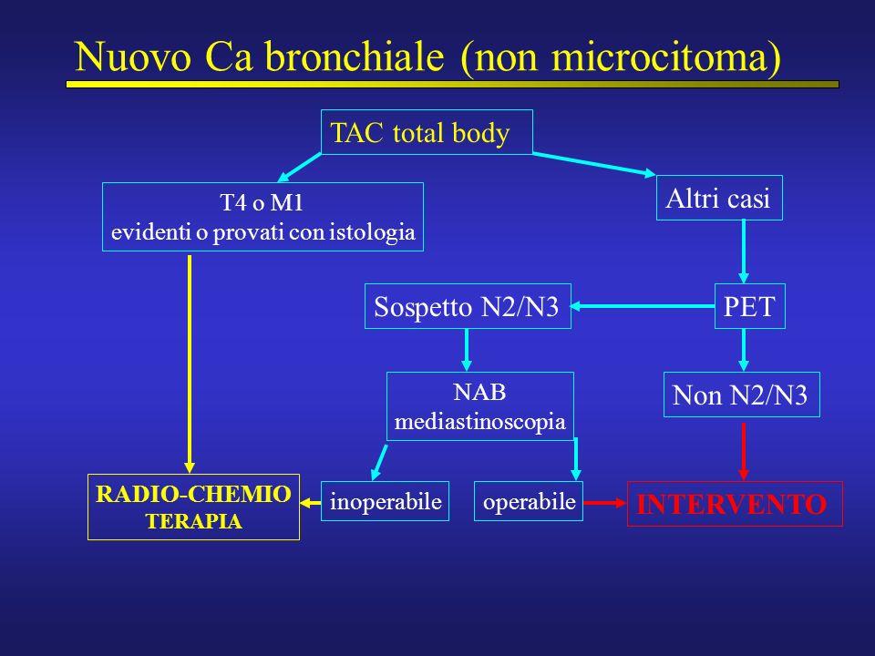 Nuovo Ca bronchiale (non microcitoma)
