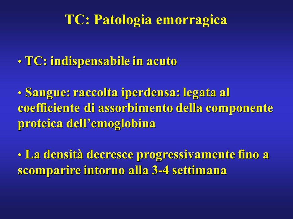 TC: Patologia emorragica