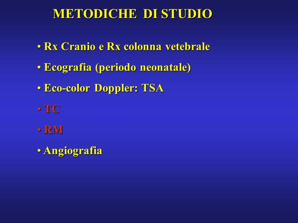 METODICHE DI STUDIO Rx Cranio e Rx colonna vetebrale