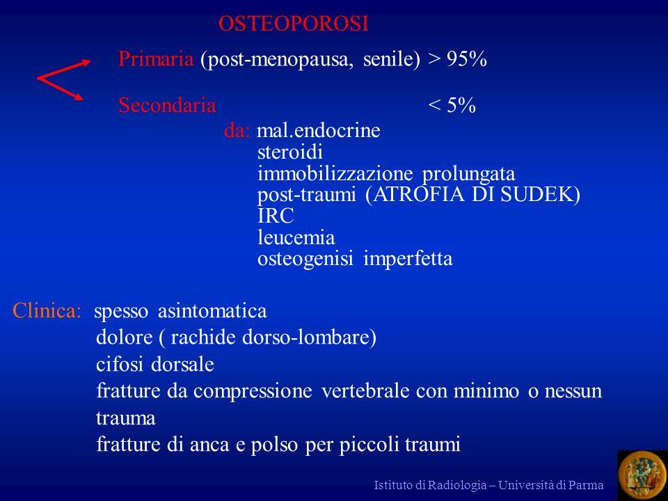 Primaria (post-menopausa, senile) > 95%