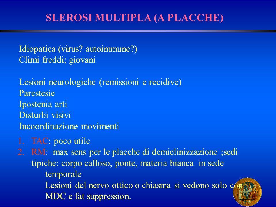 SLEROSI MULTIPLA (A PLACCHE)