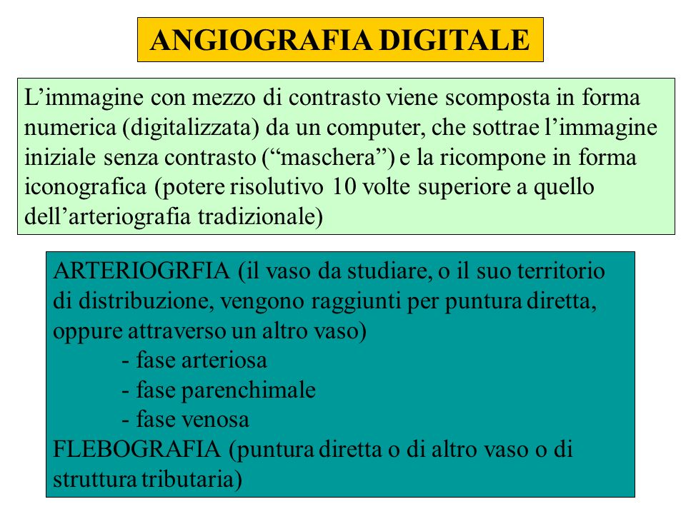 ANGIOGRAFIA DIGITALE