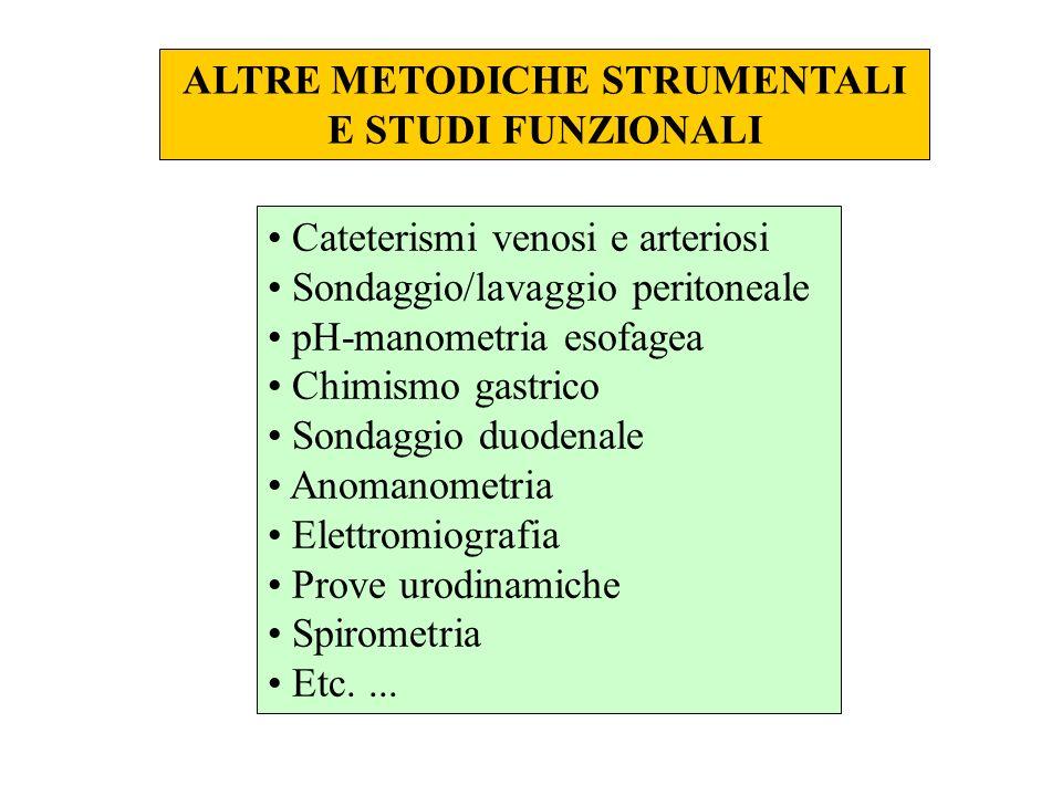 ALTRE METODICHE STRUMENTALI
