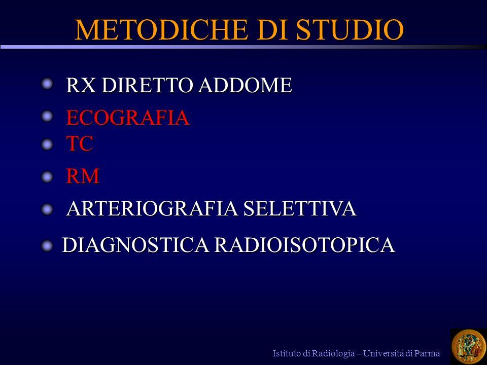 METODICHE DI STUDIO RX DIRETTO ADDOME ECOGRAFIA TC RM
