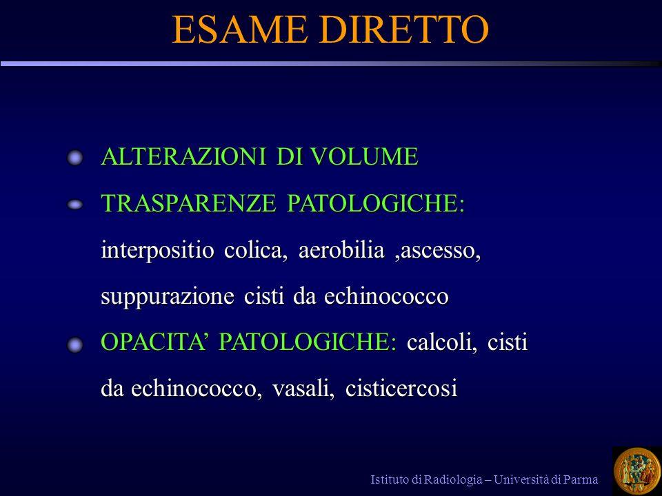 ESAME DIRETTO ALTERAZIONI DI VOLUME