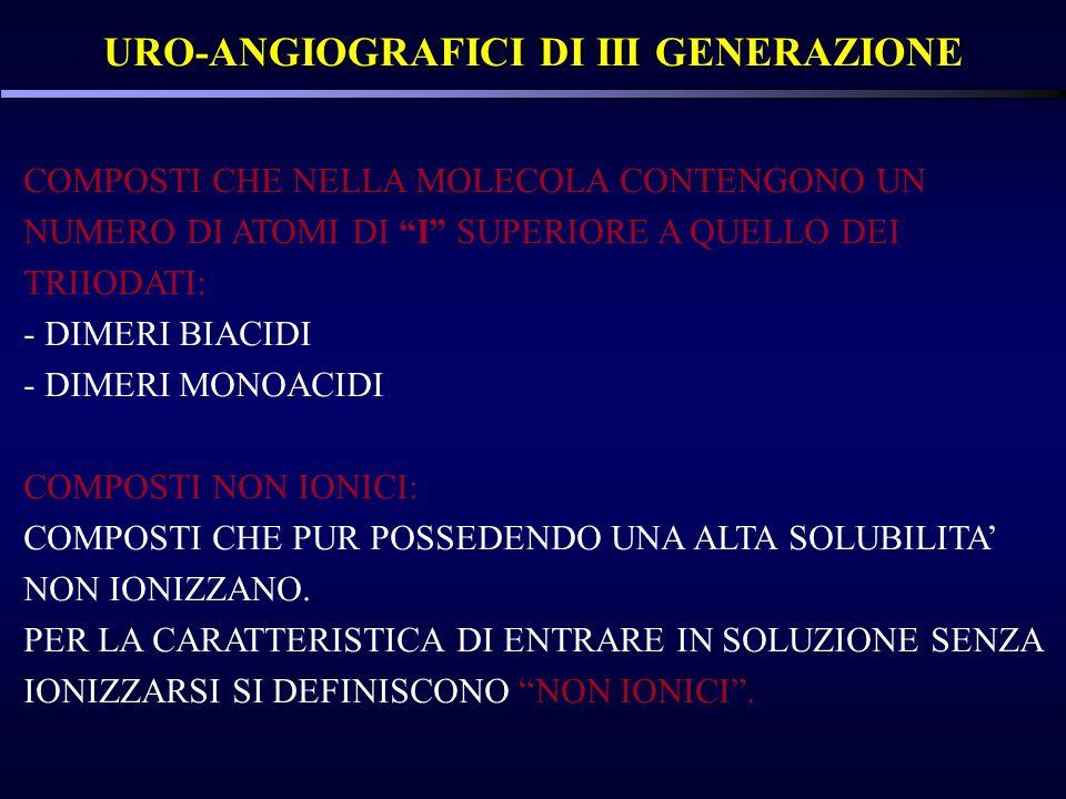 URO-ANGIOGRAFICI DI III GENERAZIONE