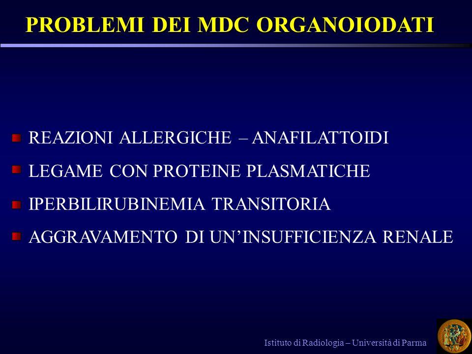 PROBLEMI DEI MDC ORGANOIODATI