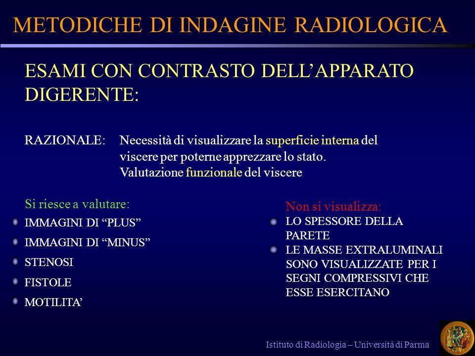 METODICHE DI INDAGINE RADIOLOGICA