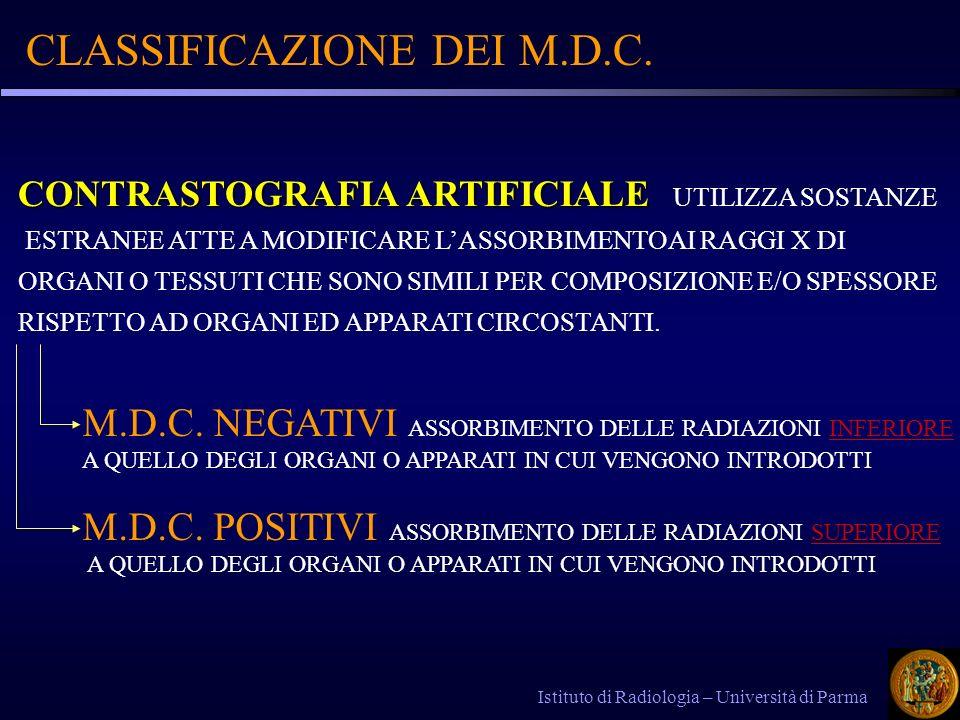 CLASSIFICAZIONE DEI M.D.C.