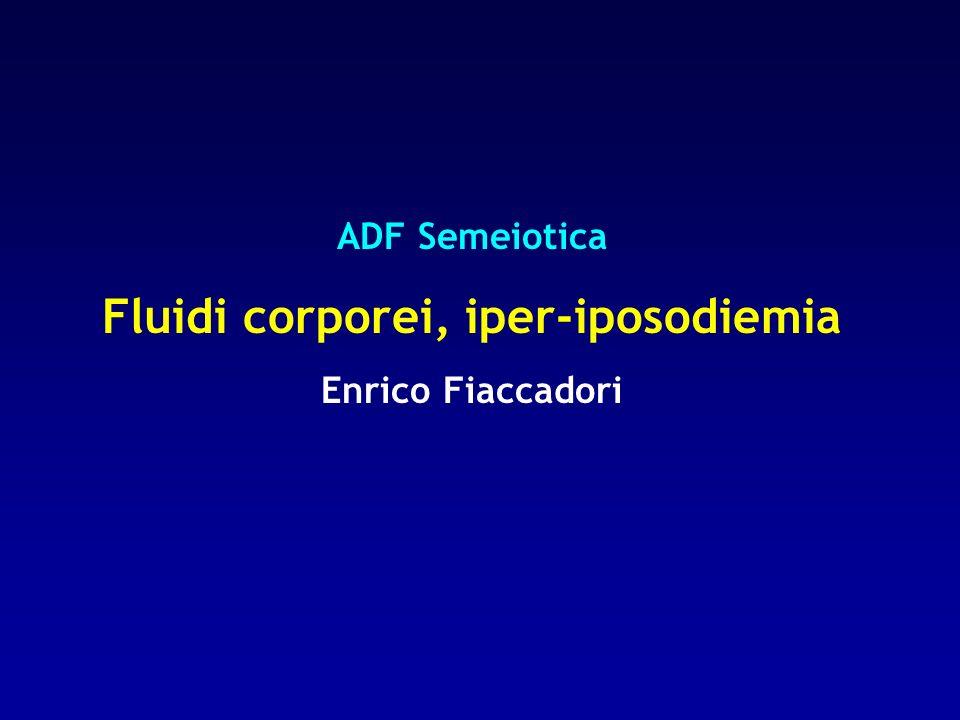 Fluidi corporei, iper-iposodiemia