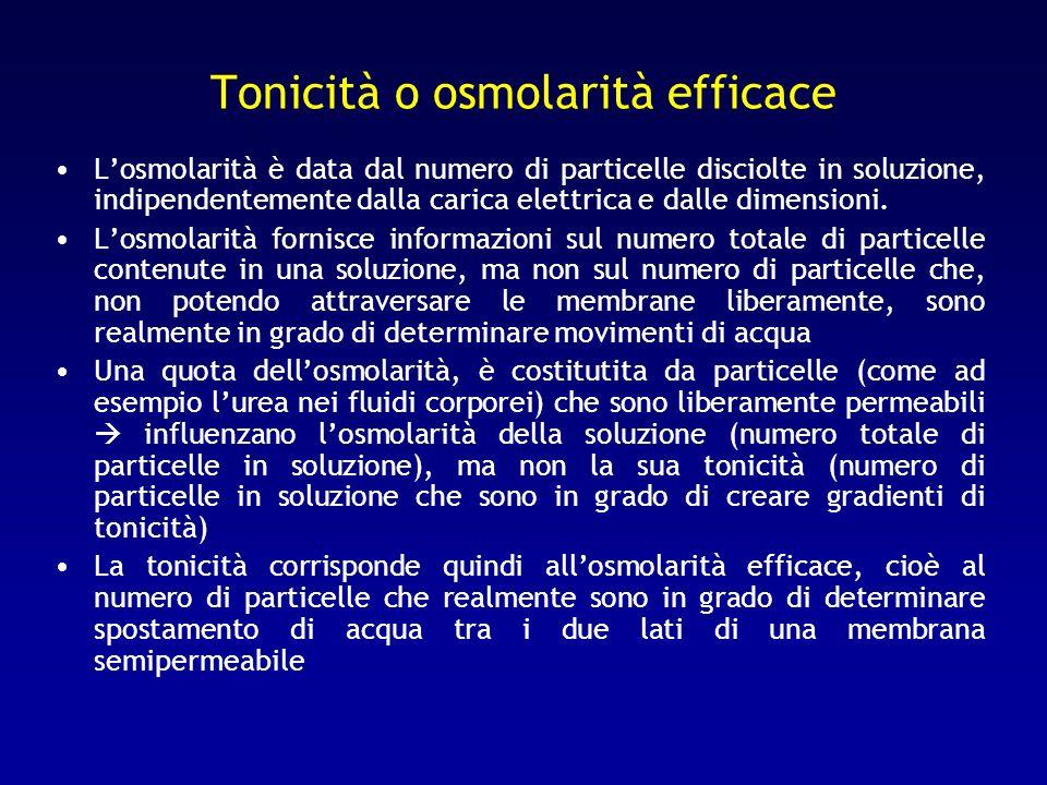 Tonicità o osmolarità efficace