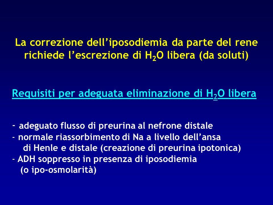 Requisiti per adeguata eliminazione di H2O libera