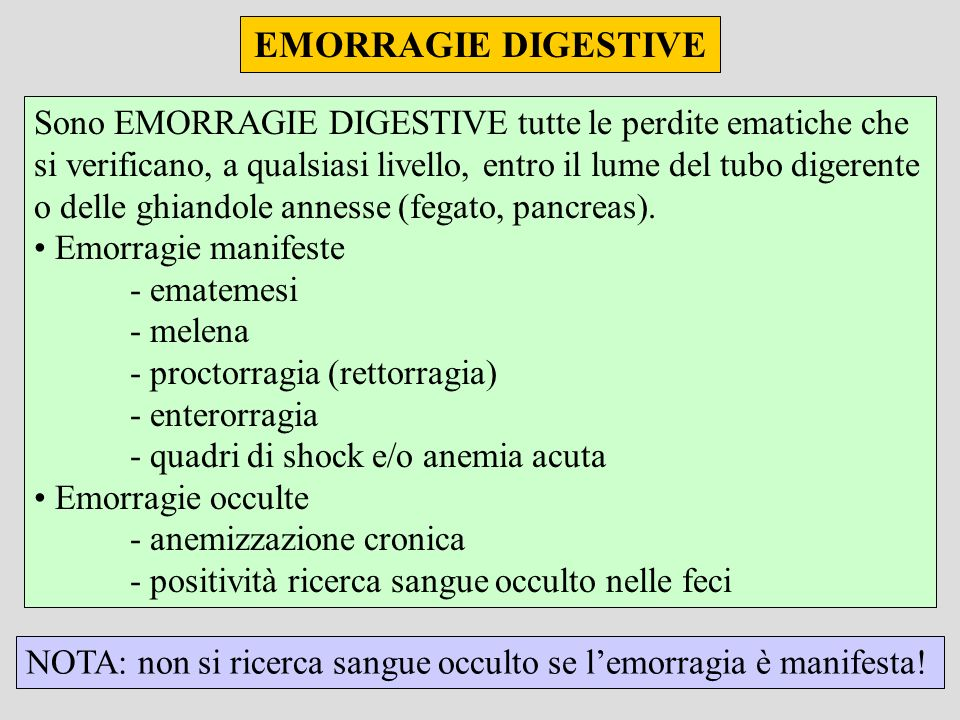 EMORRAGIE DIGESTIVE