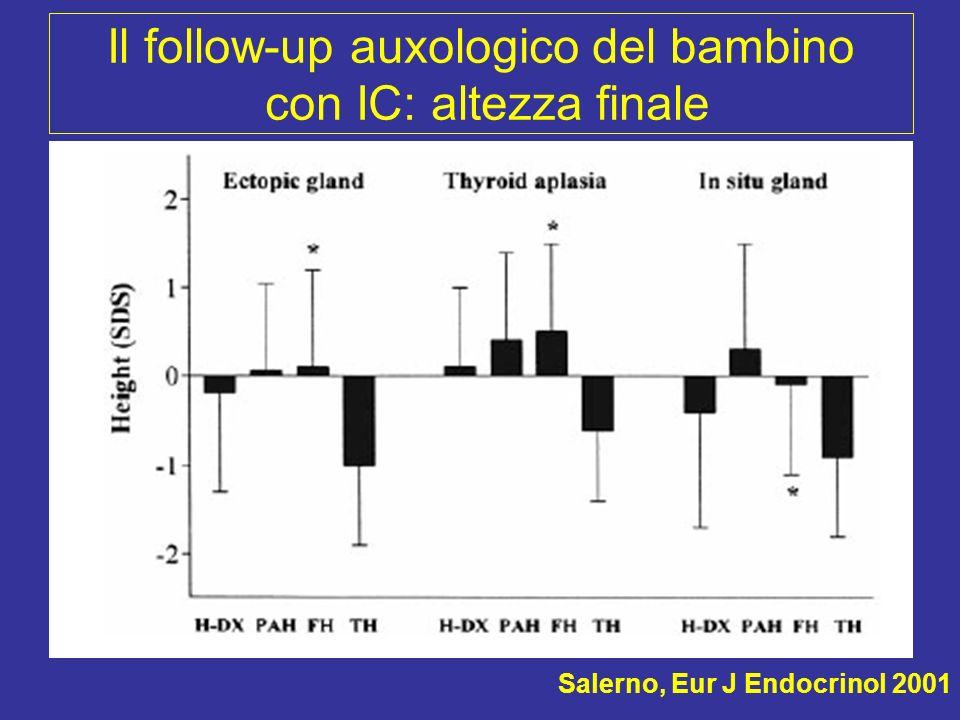 Il follow-up auxologico del bambino con IC: altezza finale