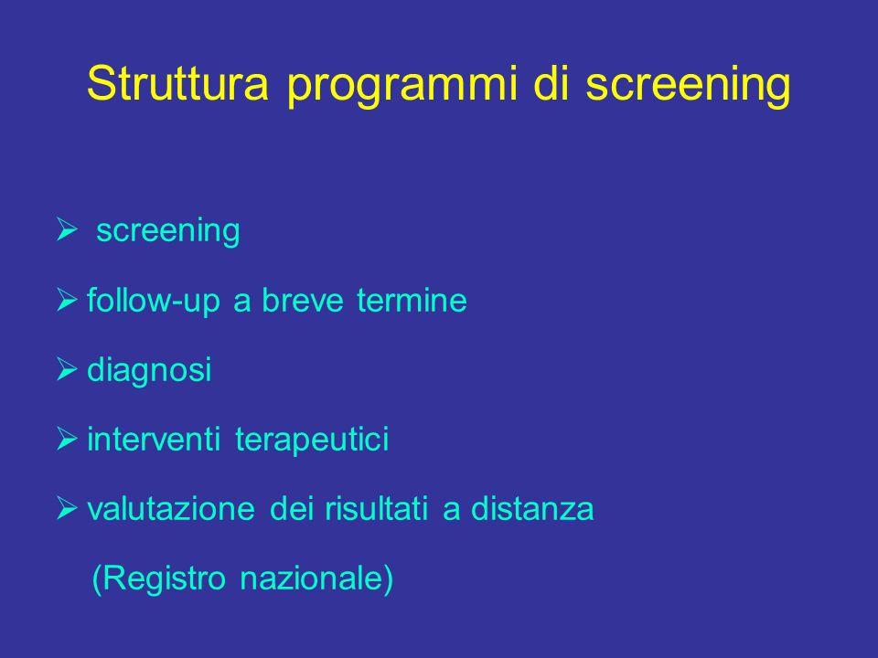 Struttura programmi di screening