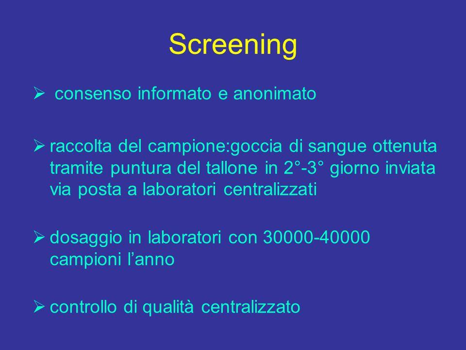 Screening consenso informato e anonimato