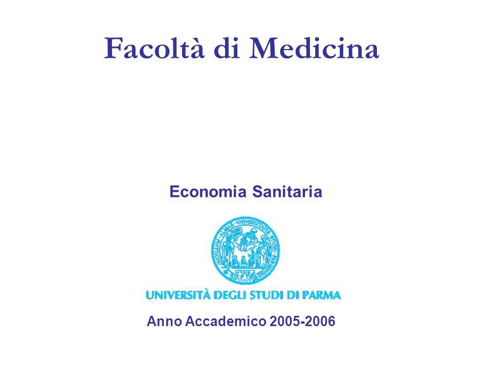 Facoltà di Medicina Anno Accademico 2005-2006 Economia Sanitaria