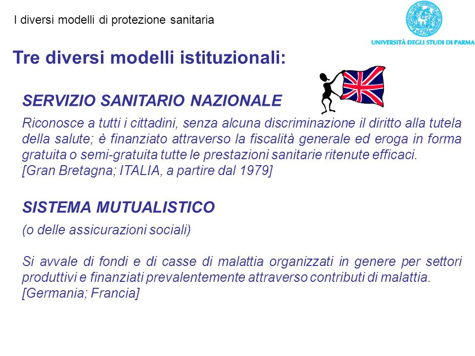 Tre diversi modelli istituzionali: