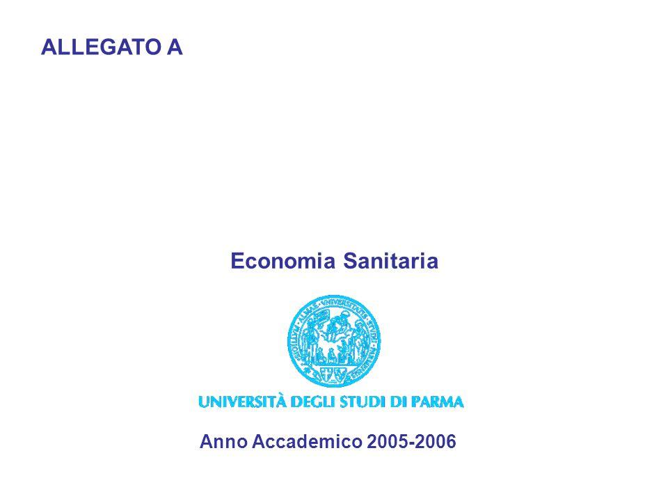 ALLEGATO A Anno Accademico 2005-2006 Economia Sanitaria