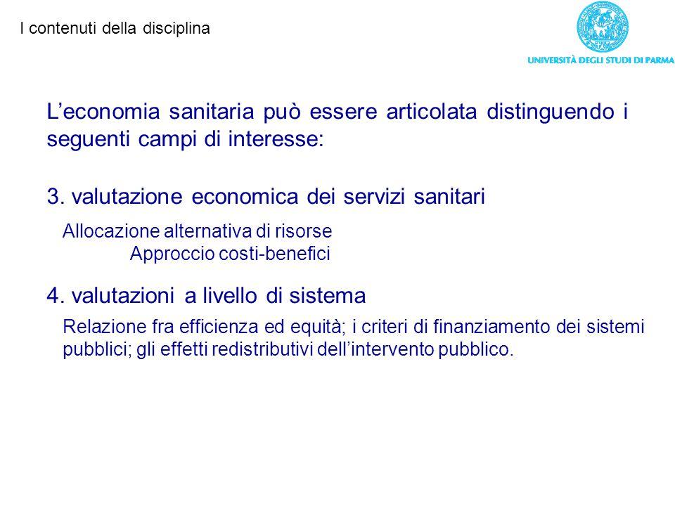 3. valutazione economica dei servizi sanitari